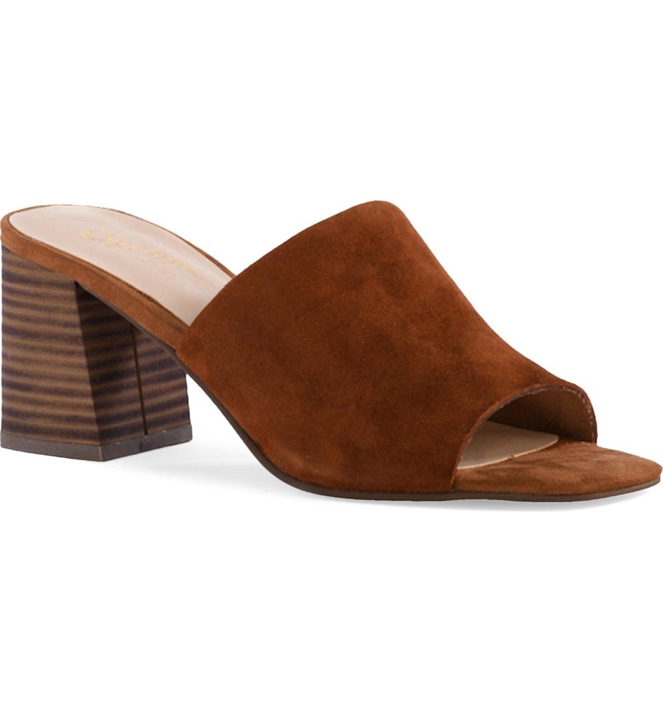 <p>From the deep brown color to the modern silhouette, this <span>Seychelle Adapt Slide Sandal</span> ($79) will make a versatile addition to your closet.</p>