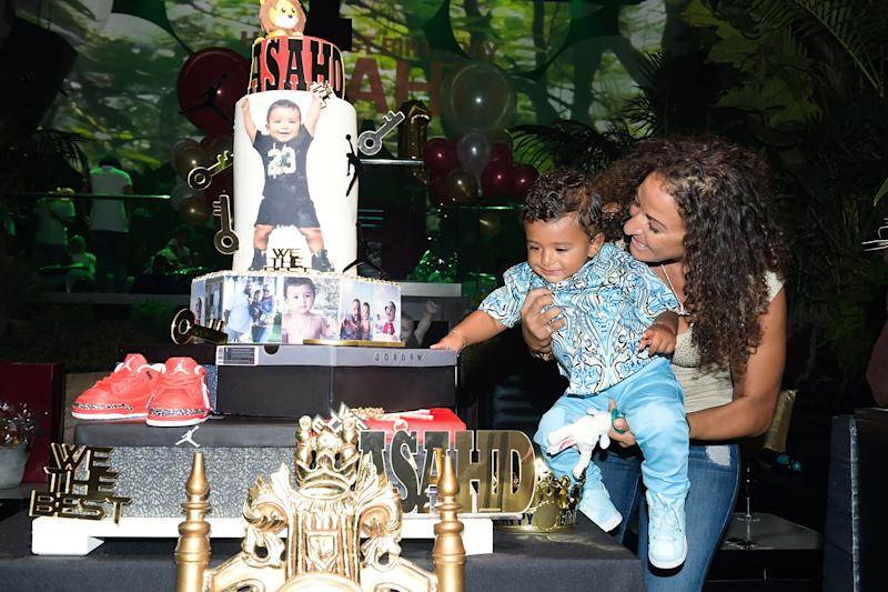 Asahd Khaled and Mom Nicole Tuck Celebrate His 1st Birthday in Miami With Huge Cake