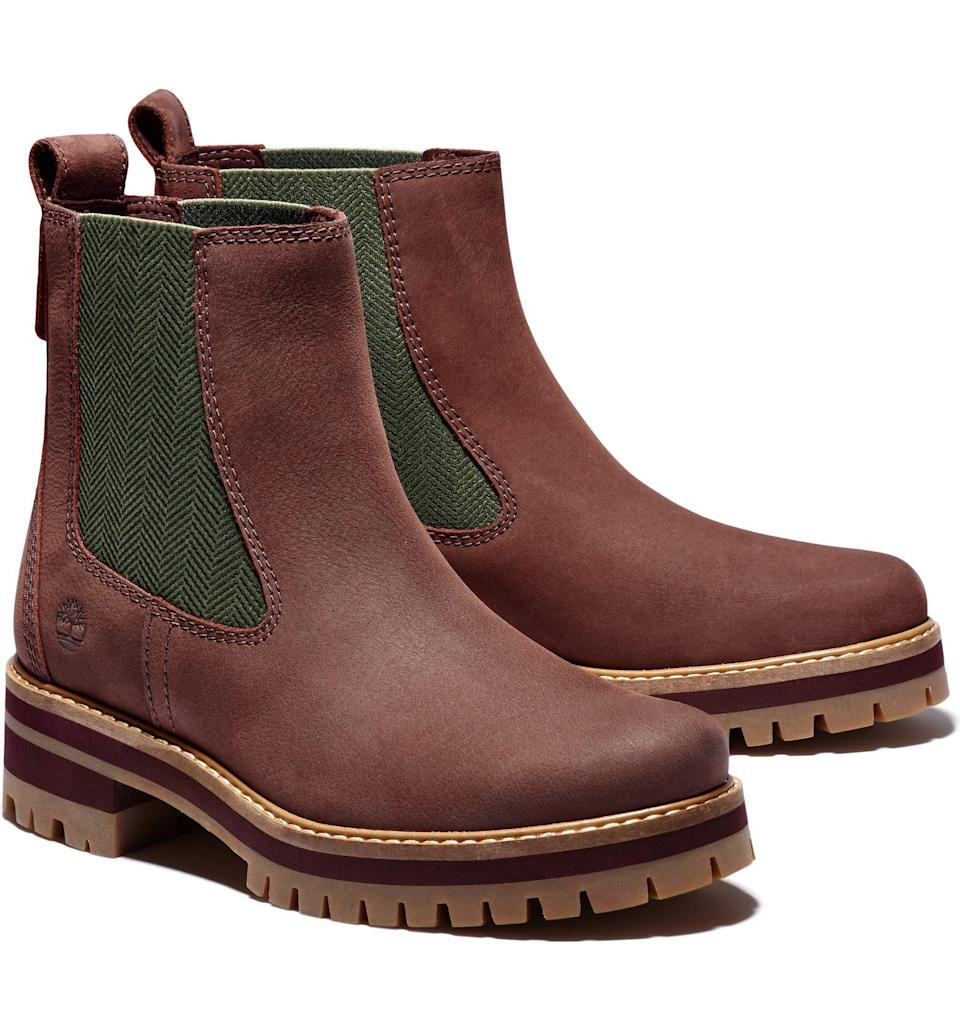 """<h2>Timberland Courmayeur Valley Chelsea Boots 33% Off</h2><br>""""I'm using this sale as an opportunity to score some really good deals on high-quality fall staples and this pair of Timbs is going to help me hit my boot quota. I was never one for Chelsea-style boots but, with the rugged brand's treatment, these puppies make for an understated take on the trend that I am loving — especially with an under-$100 price attached."""" <br><br><em>Shop <strong><a href=""""https://www.nordstrom.com/brands/timberland--723"""" rel=""""nofollow noopener"""" target=""""_blank"""" data-ylk=""""slk:Timberland"""" class=""""link rapid-noclick-resp"""">Timberland</a></strong></em><br><br><strong>Timberland</strong> Courmayeur Valley Chelsea Boot, $, available at <a href=""""https://go.skimresources.com/?id=30283X879131&url=https%3A%2F%2Fwww.nordstrom.com%2Fs%2Ftimberland-courmayeur-valley-chelsea-boot-women%2F5807539"""" rel=""""nofollow noopener"""" target=""""_blank"""" data-ylk=""""slk:Nordstrom"""" class=""""link rapid-noclick-resp"""">Nordstrom</a>"""
