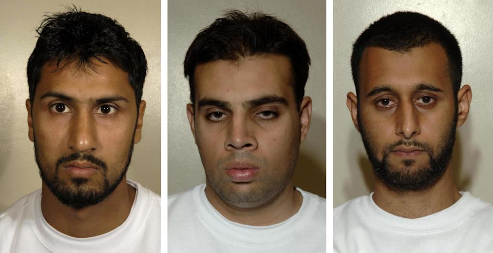 Abdulla Ahmed Ali, Assad Sarwar and Tanvir Hussain were jailed for life for their parts in a plot to blow up two transatlantic flights (PA Archive)