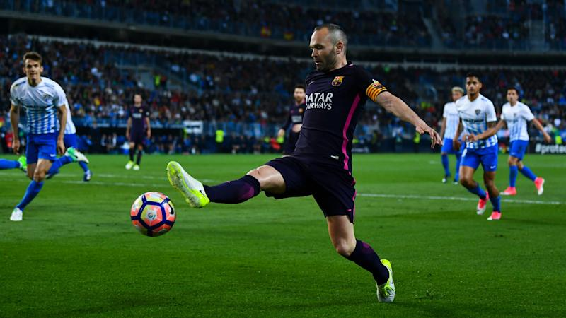 Barcelona skipper Iniesta refuses to blame Malaga defeat on referee