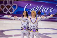 """<p>When two bitter rivals in men's skating are banned from the sport, they find a loophole to return: teaming up as a same-sex pairs team. What ensues is a hilarious, awkward, and occasionally affectionate skewering of the weirdest parts of figure skating and sports in general.</p> <p><a href=""""https://www.popsugar.com/buy?url=http%3A%2F%2Fwww.amazon.com%2FBlades-Glory-Will-Ferrell%2Fdp%2FB00C3MTMSO&p_name=Watch%20%3Cstrong%3EBlades%20of%20Glory%3C%2Fstrong%3E%20on%20Amazon.&retailer=amazon.com&evar1=buzz%3Aus&evar9=47090633&evar98=https%3A%2F%2Fwww.popsugar.com%2Fentertainment%2Fphoto-gallery%2F47090633%2Fimage%2F47090647%2FBlades-Glory&prop13=api&pdata=1"""" rel=""""nofollow noopener"""" class=""""link rapid-noclick-resp"""" target=""""_blank"""" data-ylk=""""slk:Watch Blades of Glory on Amazon."""">Watch <strong>Blades of Glory</strong> on Amazon.</a></p>"""