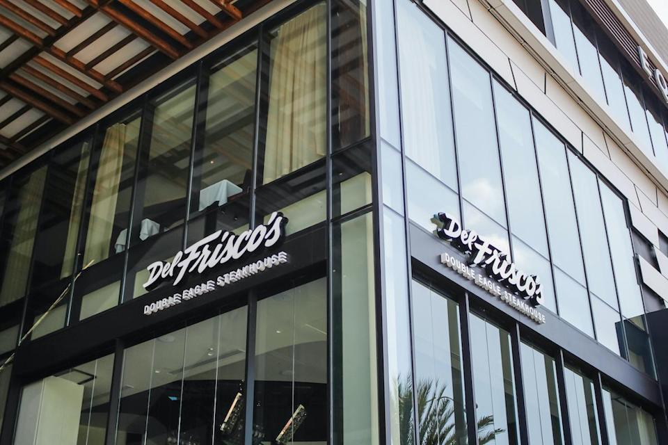 """<p>Starting at $49 per person, Del Frisco's Double Eagle Steakhouse is offering your choice of butternut squash soup or harvest salad, slow-roasted turkey breast, trimmings, apple-sausage stuffing, <a href=""""https://www.thedailymeal.com/best-recipes/ginger-spiced-mashed-sweet-potatoes?referrer=yahoo&category=beauty_food&include_utm=1&utm_medium=referral&utm_source=yahoo&utm_campaign=feed"""" rel=""""nofollow noopener"""" target=""""_blank"""" data-ylk=""""slk:mashed sweet potatoes"""" class=""""link rapid-noclick-resp"""">mashed sweet potatoes</a> and chateau potatoes, thin green beans, pan gravy, cranberry relish and your choice of pumpkin cheesecake or pecan pie a la mode — <a href=""""https://www.thedailymeal.com/cook/25-regional-thanksgiving-specialties-0?referrer=yahoo&category=beauty_food&include_utm=1&utm_medium=referral&utm_source=yahoo&utm_campaign=feed"""" rel=""""nofollow noopener"""" target=""""_blank"""" data-ylk=""""slk:a Southern specialty"""" class=""""link rapid-noclick-resp"""">a Southern specialty</a>.</p> <p>You can also get a family meal pack to-go for two to four people starting at $175 or four to six people for $250. This includes butternut squash soup, harvest salad, slow-roasted turkey breast, brown gravy, mashed sweet potatoes, chateau potatoes, apple-sausage stuffing, thin green beans, cranberry relish, pecan pie and pumpkin cheesecake.</p>"""