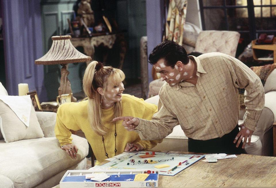 <p>When Phoebe contracts the chicken pox right when her old flame, Ryan, is about to dock from the Navy, an adorably cute episode of <em>Friends</em> with Charlie Sheen ensues.</p>