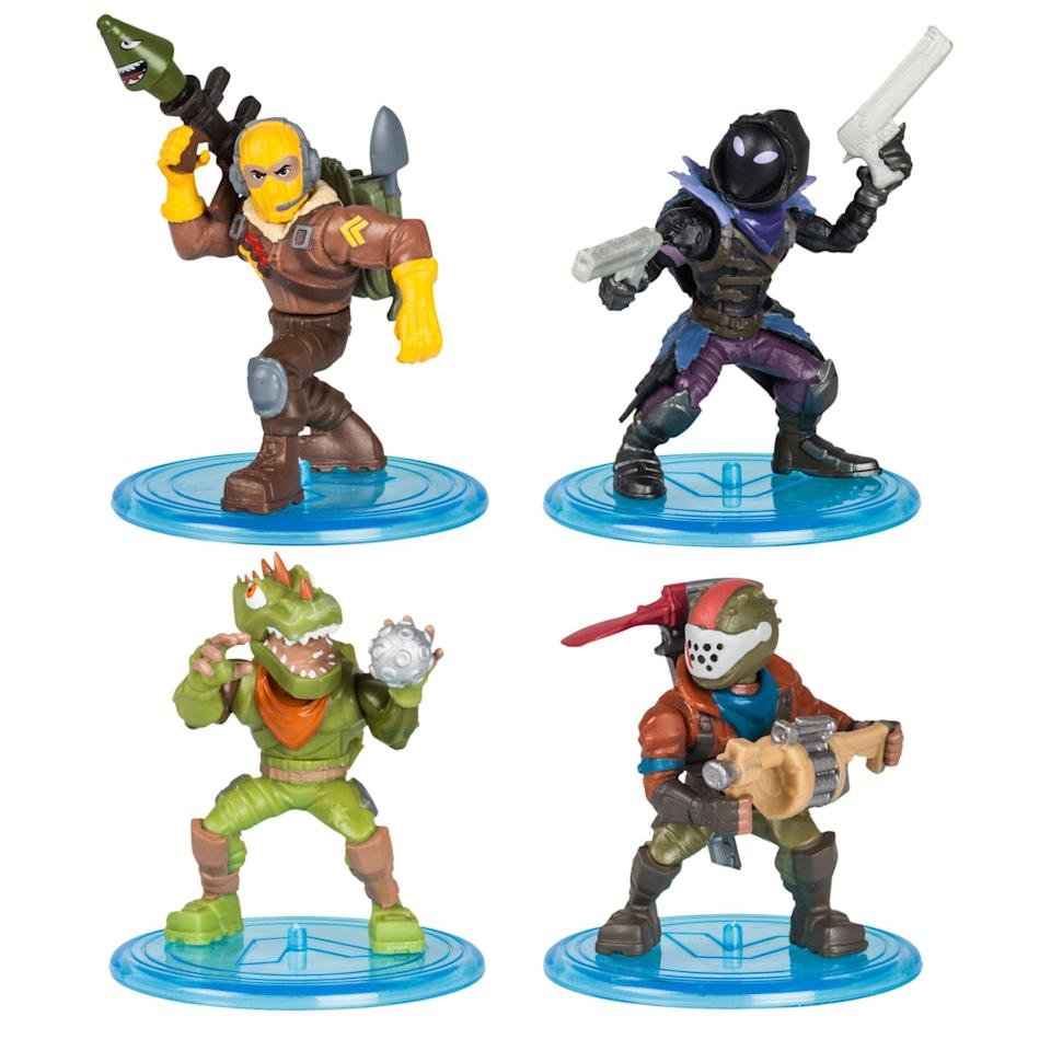 """<p><strong>Fortnite</strong></p><p>walmart.com</p><p><strong>$24.00</strong></p><p><a href=""""https://go.redirectingat.com?id=74968X1596630&url=https%3A%2F%2Fwww.walmart.com%2Fip%2F154422315&sref=https%3A%2F%2Fwww.goodhousekeeping.com%2Fchildrens-products%2Ftoy-reviews%2Fg28243507%2Fbest-toys-gifts-for-8-year-boys%2F"""" rel=""""nofollow noopener"""" target=""""_blank"""" data-ylk=""""slk:Shop Now"""" class=""""link rapid-noclick-resp"""">Shop Now</a></p><p>If your 8-year-old is a Fortnite fan, this set of action figures covers three different groups of characters available, so kids can collect them all. The best part is that they have<strong> swappable weapons, accessories and back bling.</strong> Kids can grow their own collection while engaging in imaginary play. <em>Ages 8+</em></p>"""