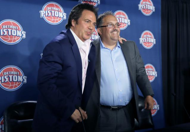 Tom Gores was thrilled to hire Stan Van Gundy in 2014. (AP)