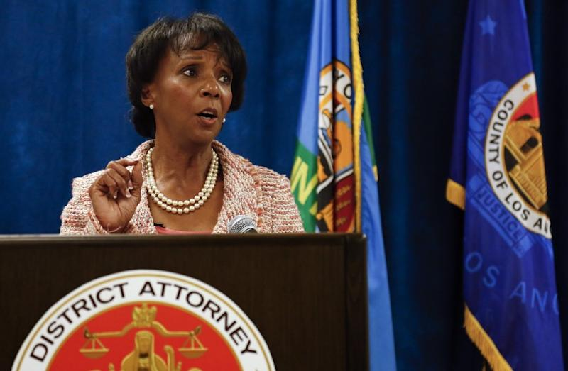 Los Angeles County Dist. Atty. Jackie Lacey appears at a newsconference on June 29, 2015. Lacey sent a letter to county supervisors last week saying that their vote on a jail plan had violated the state's open meetings law.