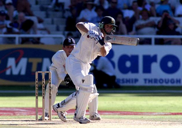 3 Jan 2000:  Gary Kirsten of South Africa piles on the runs with Jacques Kallis during the Fourth Test at Newlands Cricket Ground, Capetown, South Africa. Mandatory Credit: Laurence Griffiths/ALLSPORT