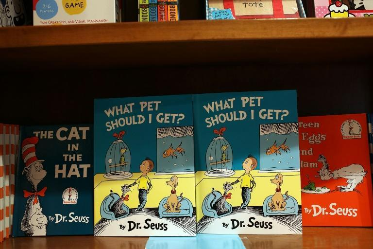 Dr. Seuss books on display in a bookshop in Florida in 2015