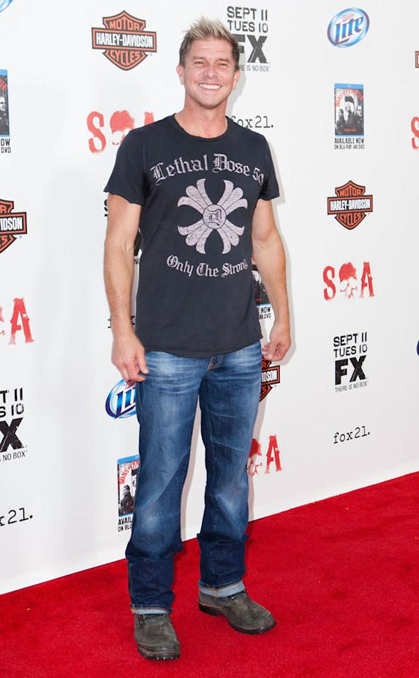 """Kenny Johnson attends the """"Sons of Anarchy"""" Season 5 premiere screening at Westwood Village on September 8, 2012 in Los Angeles, California."""