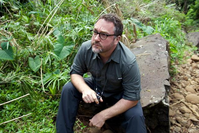 Director Colin Trevorrow on the set of <em>Jurassic World</em>. His vision for <em>Star Wars: Episode IX</em> was revealed through a leaked version of the script. (Photo: Chuck Zlotnick/©Universal Pictures/courtesy Everett Collection)