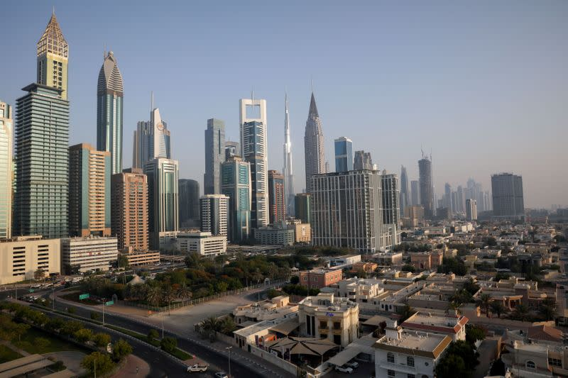 FILE PHOTO: A general view of the Burj Khalifa and the downtown skyline in Dubai