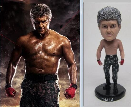 A doll inspired by Ajith's look in Vivegam