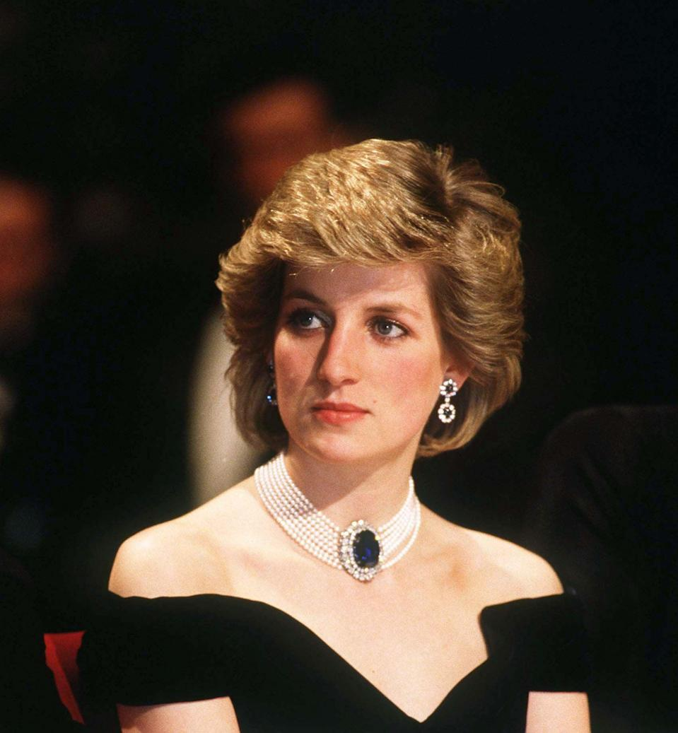 <p>Diana looked glamorous sporting her signature brushed-up blowout. </p>