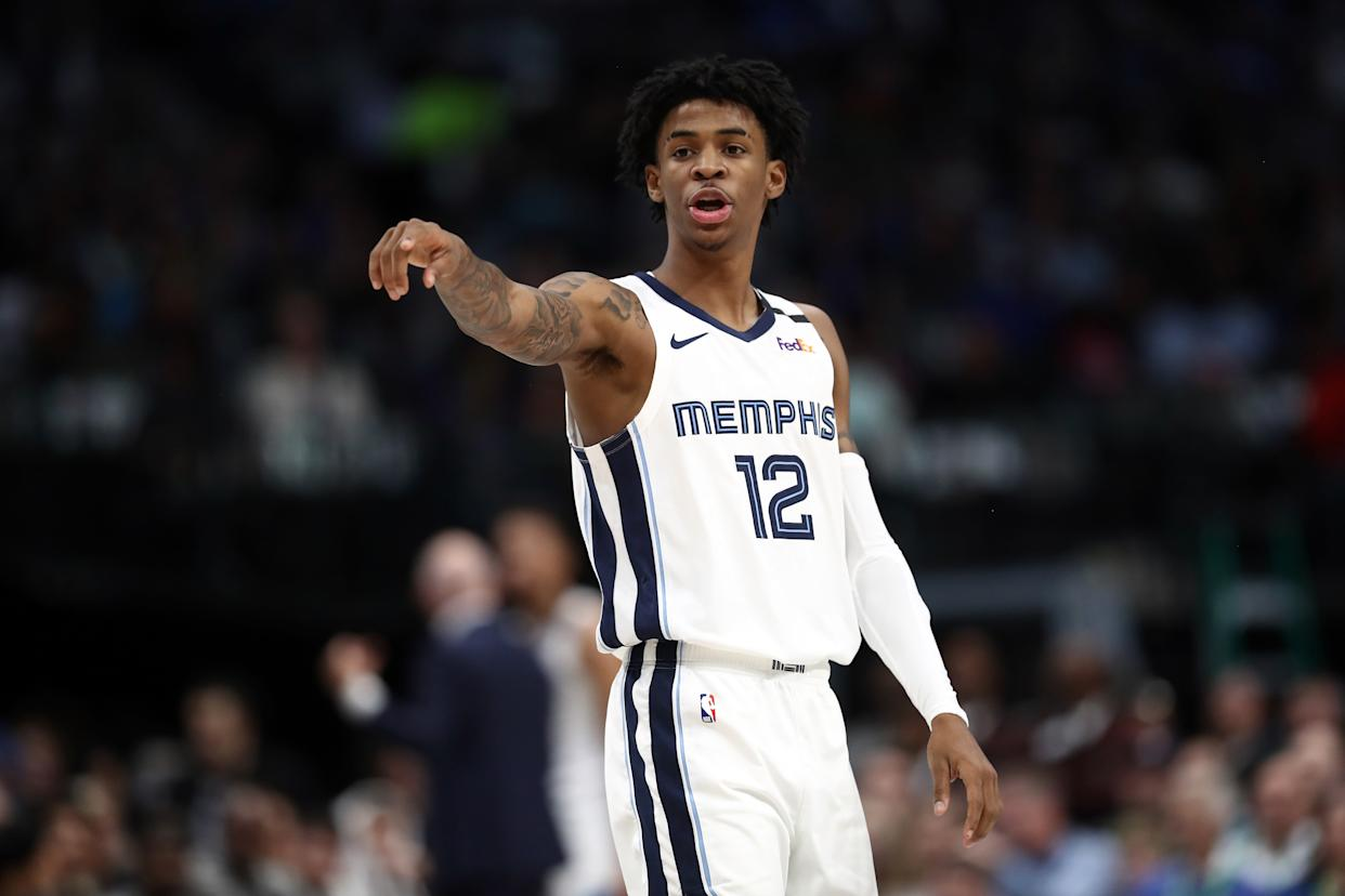 Memphis Grizzlies point guard Ja Morant is more than worthy of this season's Rookie of the Year award. (Ronald Martinez/Getty Images)
