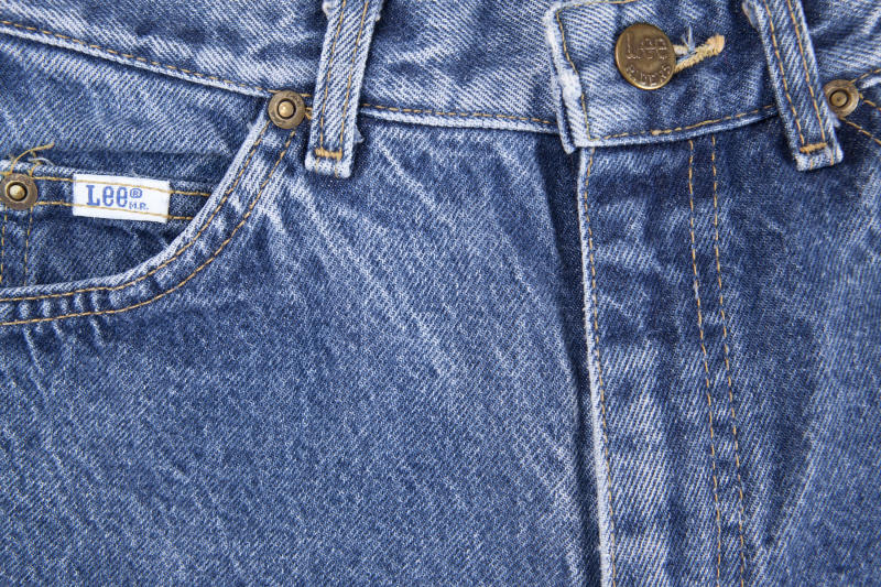 Chillicothe, Ohio, USA - March 20,2011: Close-up of the front of a pair of Lee Misses Riders, manufactured by Lee Jeans.