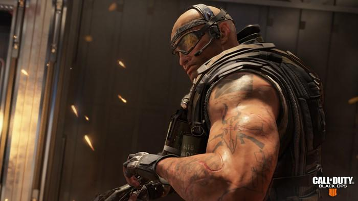 A screenshot of character Ajax from Activision's Call of Duty.