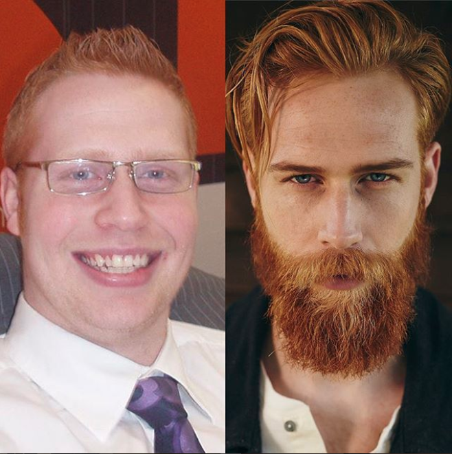 Growing a beard and shedding seven stone in weight has catapulted Gwilym Pugh to modelling stardom. Photo: Instagram/gwilympugh