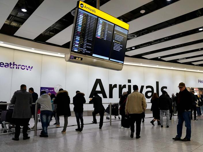The final flight from Wuhan to Heathrow arrived on Wednesday evening after the Chinese city went into lockdown: EPA
