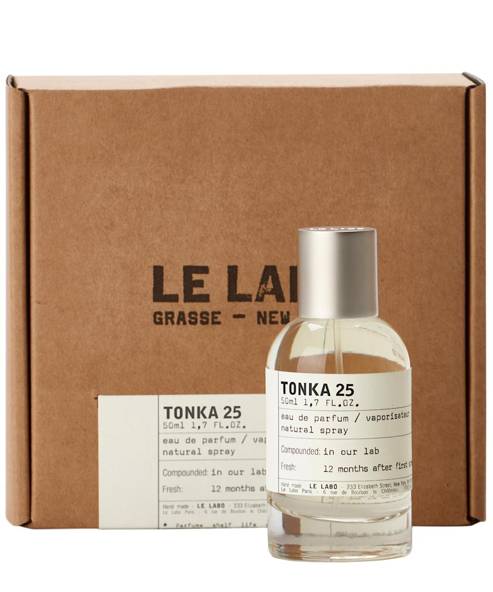 """<p><strong>Jess Commons, Lifestyle Director</strong></p><p><strong>The perfume: Le Labo</strong> Tonka 25 Eau de Parfum, £127 for 50ml, available at <a href=""""https://www.libertylondon.com/uk/tonka-25-eau-de-parfum-50ml-R236358006.html?dwvar_000604420_color=98-NO%20COLOUR&referrer=brands&listsrc=Le%20Labo#prefn1=Le+Labo_Perfume+Collection&sz=60&start=1&prefv1=Tonka+25&gclid=EAIaIQobChMI48Ca9O224wIVBETTCh20xQYUEAAYAyAAEgKYBPD_BwE"""" rel=""""nofollow noopener"""" target=""""_blank"""" data-ylk=""""slk:Liberty London."""" class=""""link rapid-noclick-resp"""">Liberty London.</a></p><p><strong>Why it's my signature scent:</strong> I'd been messing around with different scents ever since I weaned myself off Ralph by Ralph Lauren and Dolce & Gabbana Blue back in sixth form, but nothing had really 'stuck'. The second I smelled Tonka though, I was hooked. It is out of this world and I love that it makes me feel like a grown-up, sophisticated lady, even if I haven't had time to wash my hair or put on anything fancy. It earns me lots of compliments and, while the price tag is definitely A Thing That Concerns Me, you can take your old Le Labo bottles back into Liberty and they refill them for money off.</p><br><br><strong>Le Labo</strong> Tonka 25 Eau de Parfum 50ml, $127, available at <a href=""""https://www.libertylondon.com/uk/tonka-25-eau-de-parfum-50ml-R236358006.html?dwvar_000604420_color=98-NO%20COLOUR&referrer=brands&listsrc=Le%20Labo#prefn1=Le+Labo_Perfume+Collection&sz=60&start=1&prefv1=Tonka+25&gclid=EAIaIQobChMI48Ca9O224wIVBETTCh20xQYUEAAYAyAAEgKYBPD_BwE"""" rel=""""nofollow noopener"""" target=""""_blank"""" data-ylk=""""slk:Liberty London"""" class=""""link rapid-noclick-resp"""">Liberty London</a>"""