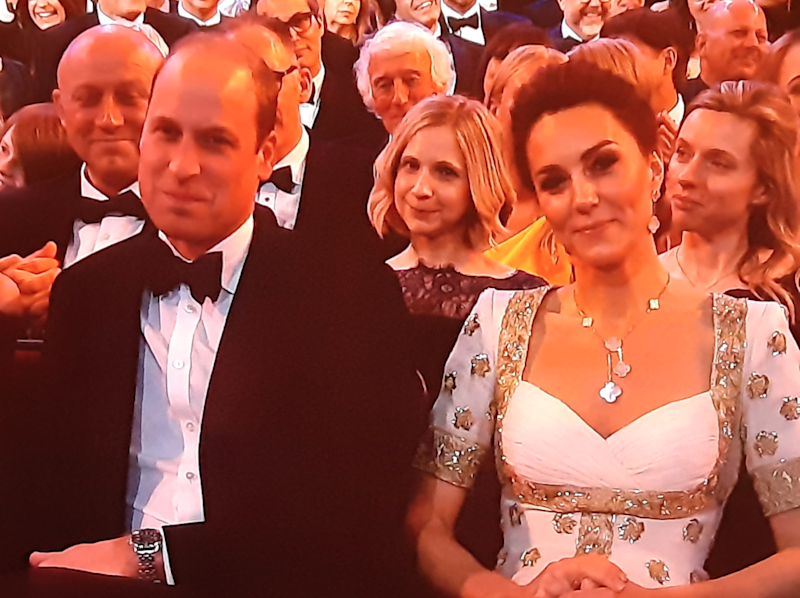 Kate Middleton and Prince William at the 2020 BAFTA Awards