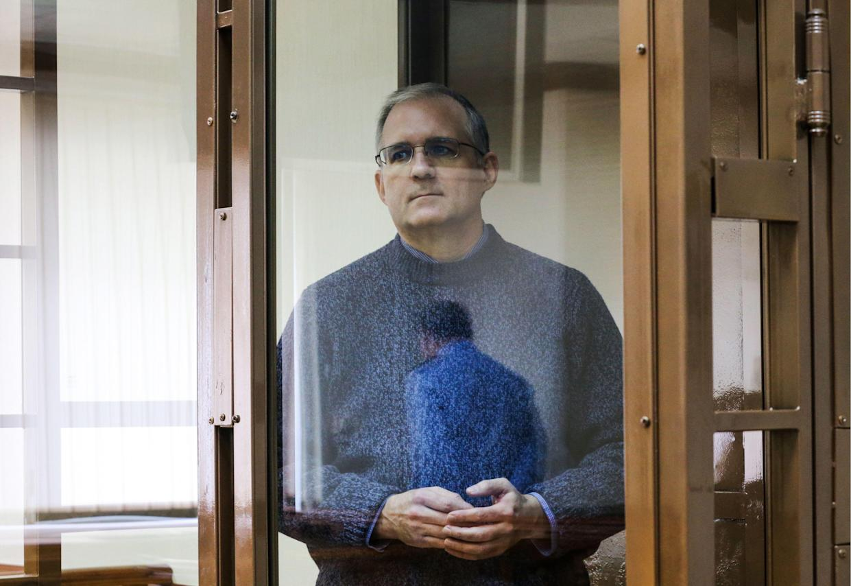 American citizen Paul Whelan, suspected of espionage on behalf of the United States, attends a hearing at the Moscow City Court. (Photo: Vladimir Gerdo/TASS via Getty Images)