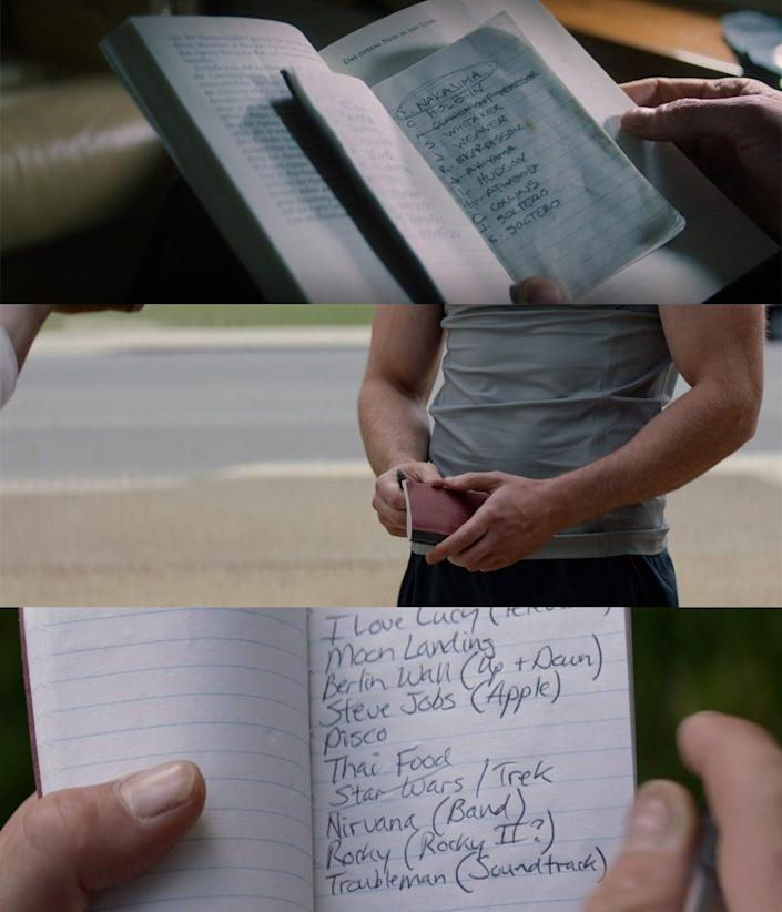 the falcon and the winter soldier 103 detail bucky steve same notebook