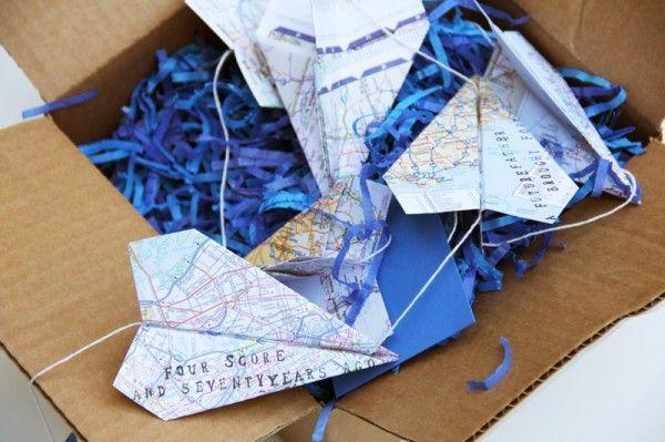 """<p>Remind your dad of all those paper airplanes you made as a kid with this sweet garland idea.</p><p><strong>Get the tutorial at <a href=""""https://studiodiy.com/2012/06/05/diy-paper-airplane-garland-for-fathers-day/"""" rel=""""nofollow noopener"""" target=""""_blank"""" data-ylk=""""slk:Studio DIY"""" class=""""link rapid-noclick-resp"""">Studio DIY</a>.</strong></p><p><strong><a class=""""link rapid-noclick-resp"""" href=""""https://www.amazon.com/Scrapbook-Customs-Themed-Paper-Mustard/dp/B01HQSNGJK/?tag=syn-yahoo-20&ascsubtag=%5Bartid%7C10050.g.1171%5Bsrc%7Cyahoo-us"""" rel=""""nofollow noopener"""" target=""""_blank"""" data-ylk=""""slk:SHOP SCRAPBOOK PAPER"""">SHOP SCRAPBOOK PAPER</a><br></strong></p>"""