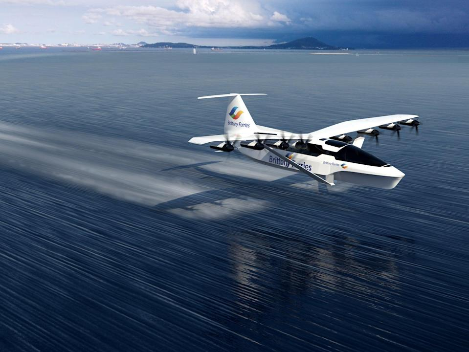 Glide path: artist's impression of the SeaGlider (Brittany Ferries)