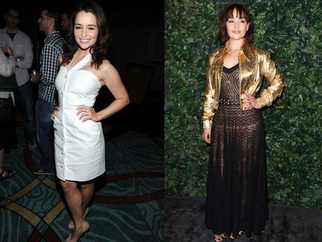 Emilia Clark in 2011 and 2017. (Photo: Getty Images)