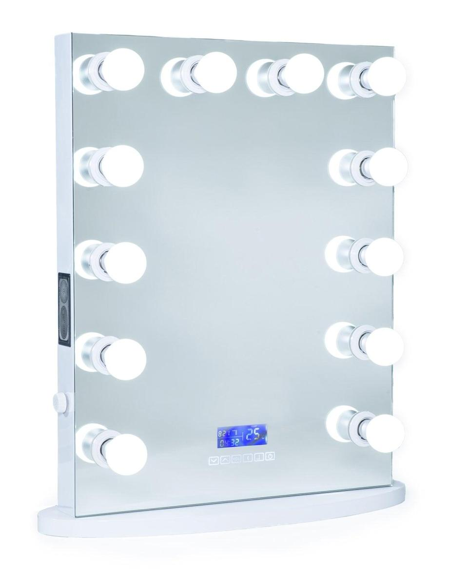 "<p>This brilliant <span>ReignCharm Hollywood Vanity Mirror With Bluetooth Audio-Enabled LED Light Bulbs</span> ($350) is one of <a class=""link rapid-noclick-resp"" href=""https://www.popsugar.com/Mariah-Carey"" rel=""nofollow noopener"" target=""_blank"" data-ylk=""slk:Mariah Carey"">Mariah Carey</a>'s favorite products.</p>"