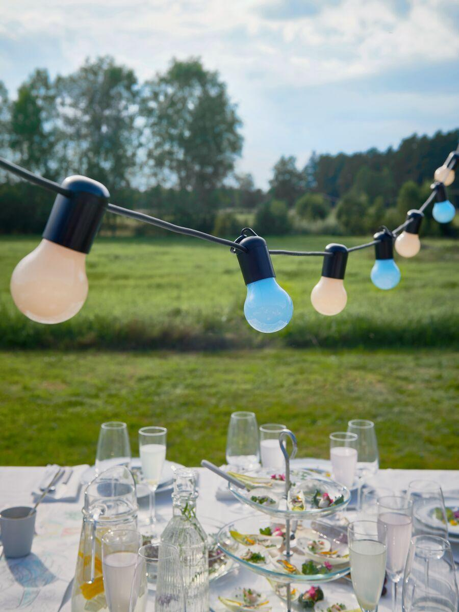 """<p>Get your space set for summer with these must-have <a href=""""https://www.housebeautiful.com/uk/lifestyle/shopping/a33293785/morrisons-dinnerware-range/"""" rel=""""nofollow noopener"""" target=""""_blank"""" data-ylk=""""slk:dining"""" class=""""link rapid-noclick-resp"""">dining</a> essentials. Whether you're planning a picnic alfresco or simply want to hit refresh on your tableware, the range has something for everyone. </p><p>'Cooking is a wonderful way to unwind, particularly in the sunshine and open air,' adds Rosheen. 'Establish an informal and relaxed ambience by creating your own fresh and healthy grazing table for people to dive in and enjoy.'</p>"""