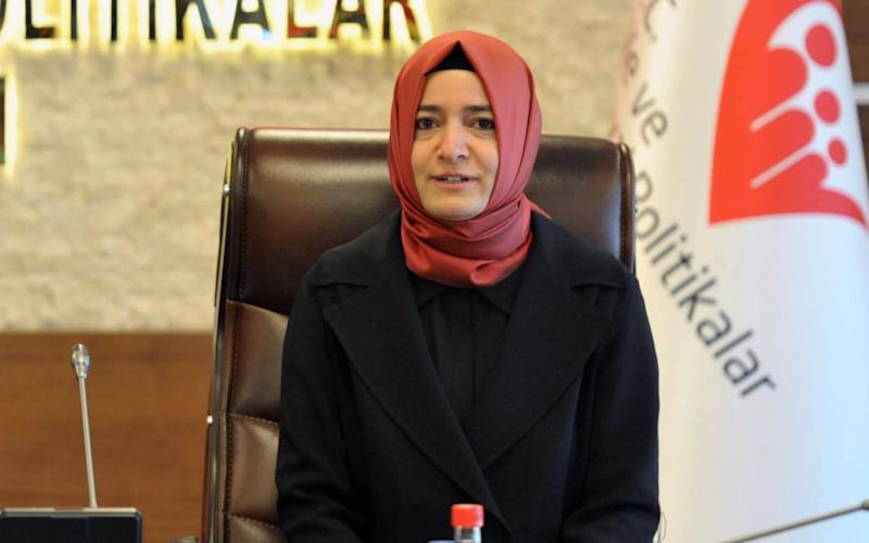 Turkey's family minister, Fatma Betul Sayan Kaya was expelled from The Netherlands - Credit: EPA
