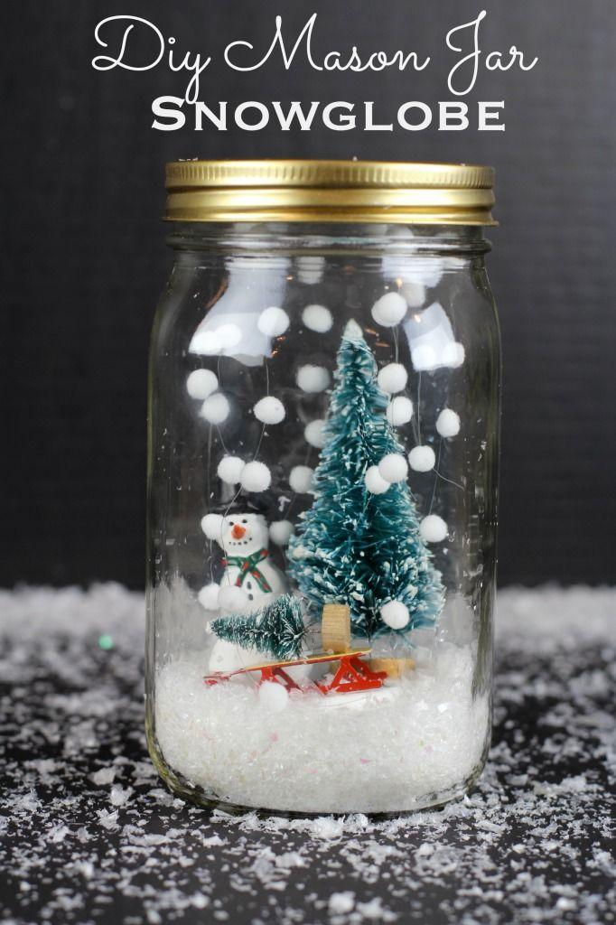"""<p>Making Mason jar snow globes is the perfect way to pass a winter afternoon with the kids.</p><p><strong><strong>Get the tutorial at</strong> <a href=""""http://www.classyclutter.net/2014/11/diy-mason-jar-snowglobe/"""" rel=""""nofollow noopener"""" target=""""_blank"""" data-ylk=""""slk:Classy Clutter"""" class=""""link rapid-noclick-resp"""">Classy Clutter</a>.</strong><br></p><p><a class=""""link rapid-noclick-resp"""" href=""""https://www.amazon.com/Premium-Crystal-Dishwasher-Bacteria-Resistant/dp/B07X1WT34S/ref=sr_1_1?dchild=1&keywords=mason+jar+single&qid=1603312809&sr=8-1&tag=syn-yahoo-20&ascsubtag=%5Bartid%7C10050.g.2832%5Bsrc%7Cyahoo-us"""" rel=""""nofollow noopener"""" target=""""_blank"""" data-ylk=""""slk:SHOP MASON JARS"""">SHOP MASON JARS</a></p>"""