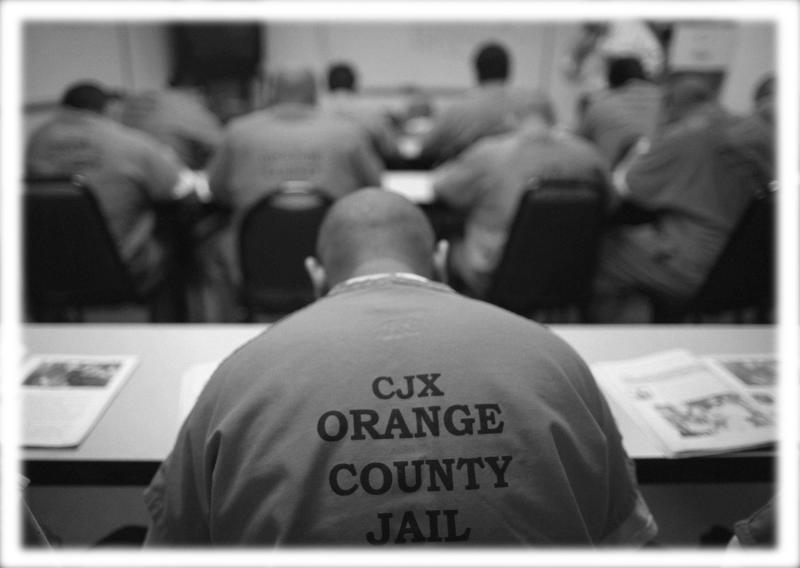 Inmates sit in a classroom at the Orange County jail in Santa Ana, Calif., in 2011. (Photo: Lucy Nicholson/Reuters; digitally enhanced by Yahoo News)