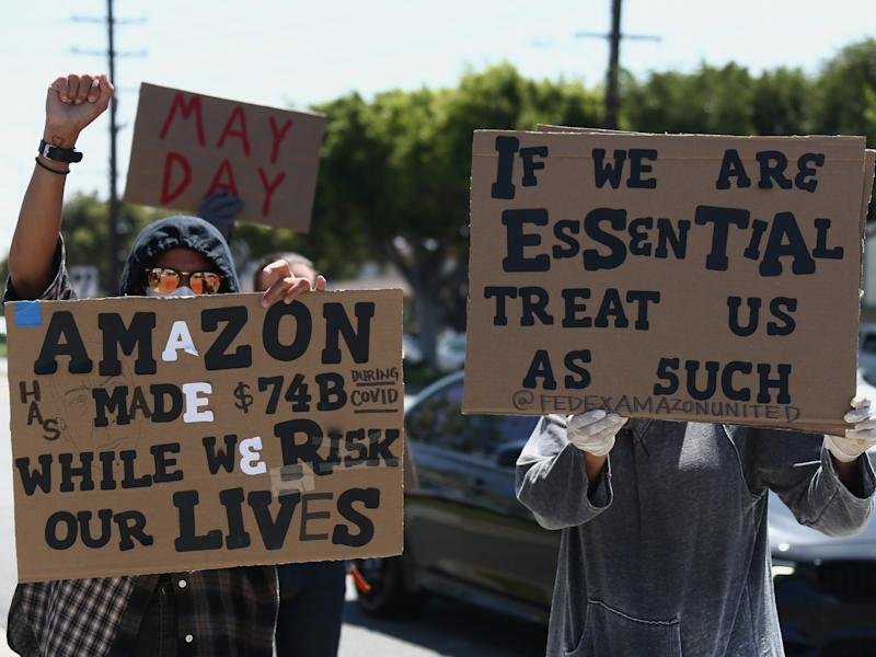 Amazon protest May Day