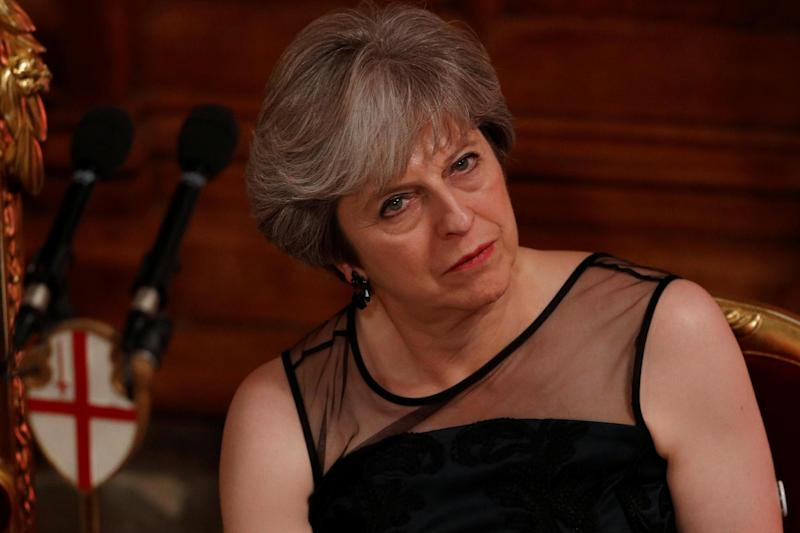 Mrs May thought she was closer to the mace than she actually was: REUTERS