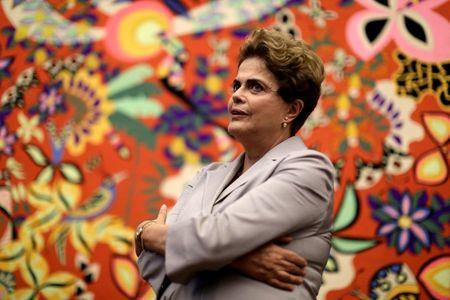 Suspended Brazilian President Dilma Rousseff attends a news conference with foreign media in Brasilia, Brazil, June 14, 2016. REUTERS/Ueslei Marcelino