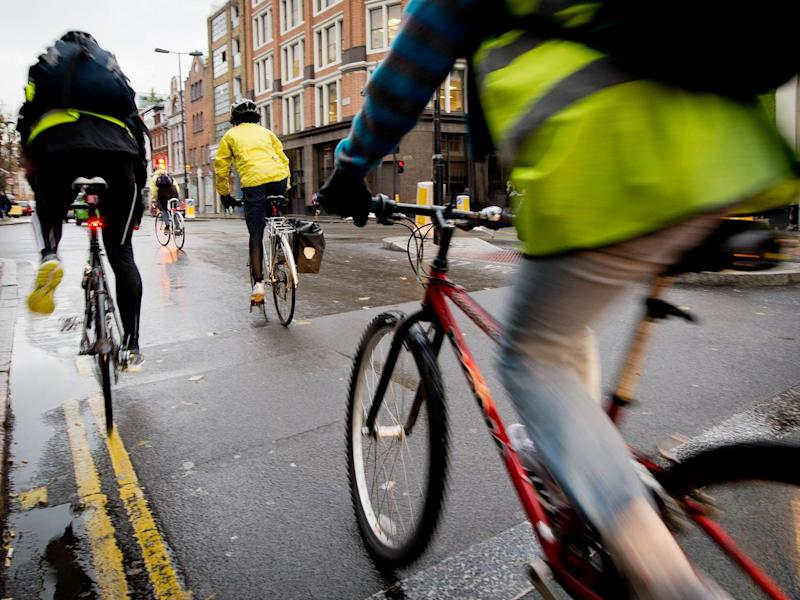 Cycling to work can bring major health benefits: Getty Images