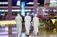 People walk at Mall of the Emirates during the reopening of malls, following the outbreak of the coronavirus disease (COVID-19), in Dubai