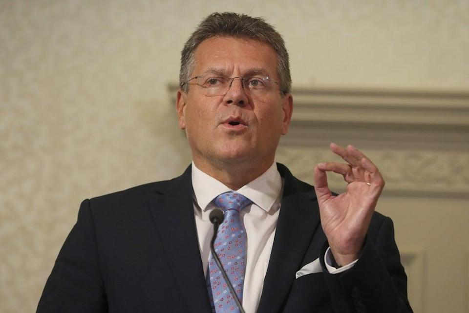 European Commission Vice President Maros Sefcovic during a visit to Belfast in September (Brian Lawless/PA) (PA Wire)