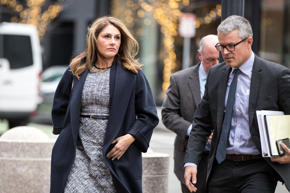 Michelle Janavs was sentenced for her role in the college admission scandal Tuesday in Boston. (Photo: Scott Eisen/Bloomberg)