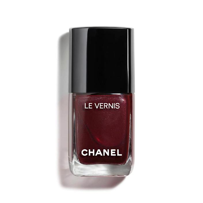 "<p>Blackberry — particularly Chanel Le Vernis in Vamp — is a favorite among multiple nail pros, and it makes complete sense as to why. The smoky red hue is so sultry, it earned a <a href=""https://www.allure.com/review/chanel-vernis-nail-polish-vamp?mbid=synd_yahoo_rss"" rel=""nofollow noopener"" target=""_blank"" data-ylk=""slk:Best of Beauty Award"" class=""link rapid-noclick-resp"">Best of Beauty Award</a>, garnered a loyal following, and even spurred its own Wikipedia page. Elle says she can recall an instance where the nail polish sold out and was auctioned for hundreds on eBay the year it first launched.</p> <p><strong>$28</strong> (<a href=""https://shop-links.co/1692774874890177817"" rel=""nofollow noopener"" target=""_blank"" data-ylk=""slk:Shop Now"" class=""link rapid-noclick-resp"">Shop Now</a>)</p>"