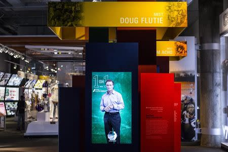 The interior of the College Football Hall of Fame in Atlanta, Georgia is pictured in this undated handout photo courtesy of the College Football Hall of Fame. REUTERS/College Football Hall of Fame/Handout via Reuters