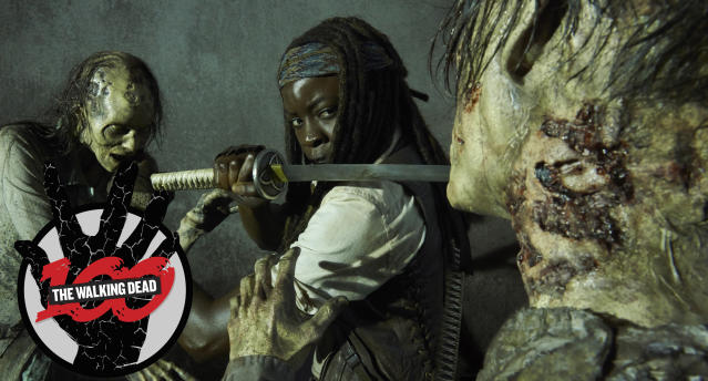 Danai Gurira as Michonne in <em>The Walking Dead</em>. (Photo: Frank Ockenfels 3/AMC)