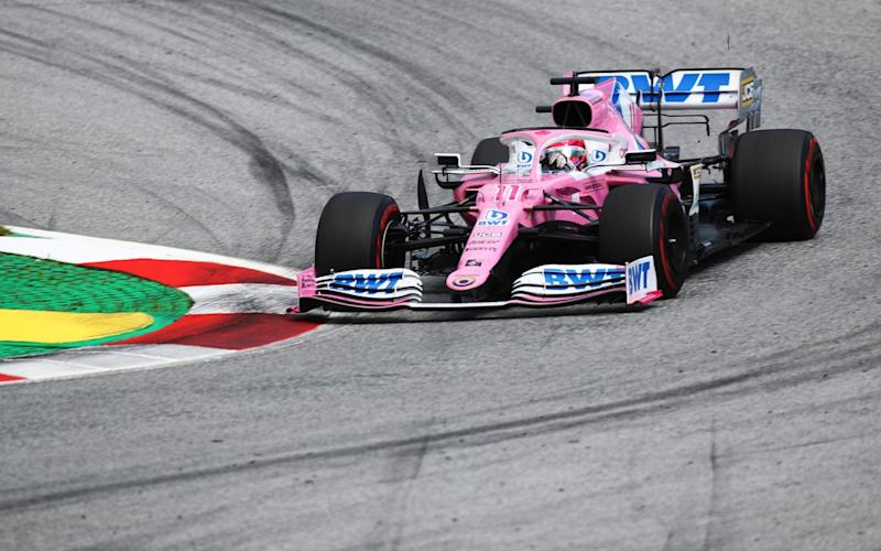 Sergio Perez of Mexico driving the (11) Racing Point RP20 Mercedes on track during the Formula One Grand Prix of Styria at Red Bull Ring on July 12, 2020 in Spielberg, Austria - Getty Images Europe