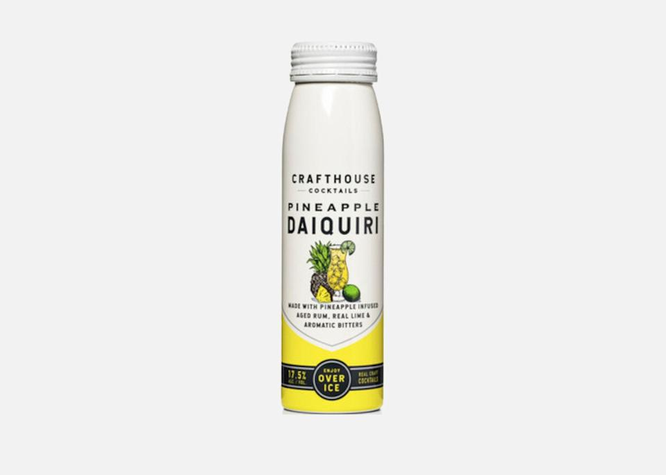 """With its five-year aged rum, lime juice, and dash of Angostura island spiced bitters, Crafthouse Cocktails's Pineapple Daiquiri will whisk you off to the Caribbean. The entire Crafthouse range is worth trying, though, especially since <a href=""""https://cna.st/affiliate-link/hzLXXBATsSVDJzZeZxvYXovWd8SeyM4X7CjYF2nSMvb4yPquNyzY5KFpPZp5oppC2uF96HxhkQ55QLjr39p?cid=605b925315b79c4e12d192e9"""" rel=""""nofollow noopener"""" target=""""_blank"""" data-ylk=""""slk:the company"""" class=""""link rapid-noclick-resp"""">the company</a>—started by <a href=""""https://www.cntraveler.com/gallery/best-bars-in-chicago?mbid=synd_yahoo_rss"""" rel=""""nofollow noopener"""" target=""""_blank"""" data-ylk=""""slk:Chicago bar owner"""" class=""""link rapid-noclick-resp"""">Chicago bar owner</a> and restauranteur Matt Lindner and global bartending champion Charles Joly—is committed to only using high-quality, all-natural ingredients. The Gold Rush cocktail, with its blend of bourbon, whiskey, lemon, honey, and bitters, could easily become a regular at picnics, too."""
