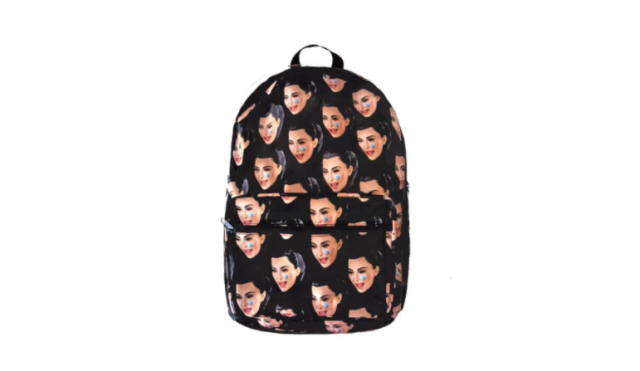 "Kim Kardashian sells her own ""ugly cry"" backpack. (Photo: <span>Kimoji.com</span>)"