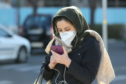 Iranians have taken to wearing face masks to protect themselves from the virus