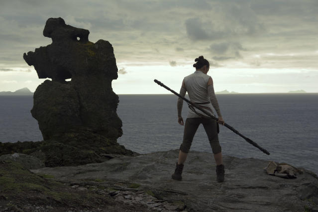 Daisy Ridley as Rey in <em>Star Wars: The Last Jedi.</em> (Photo: Lucasfilm)